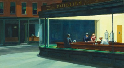 Edward Hopper. Nighthawks, 1942. Art Institute of Chicago. Friends of American Art Collection.