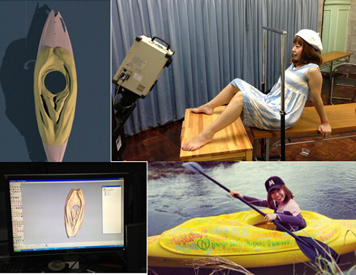 "Progress on the 3D scanning, construction, and final ""Pussy Boat."" Image by artist Megumi Igarashi."