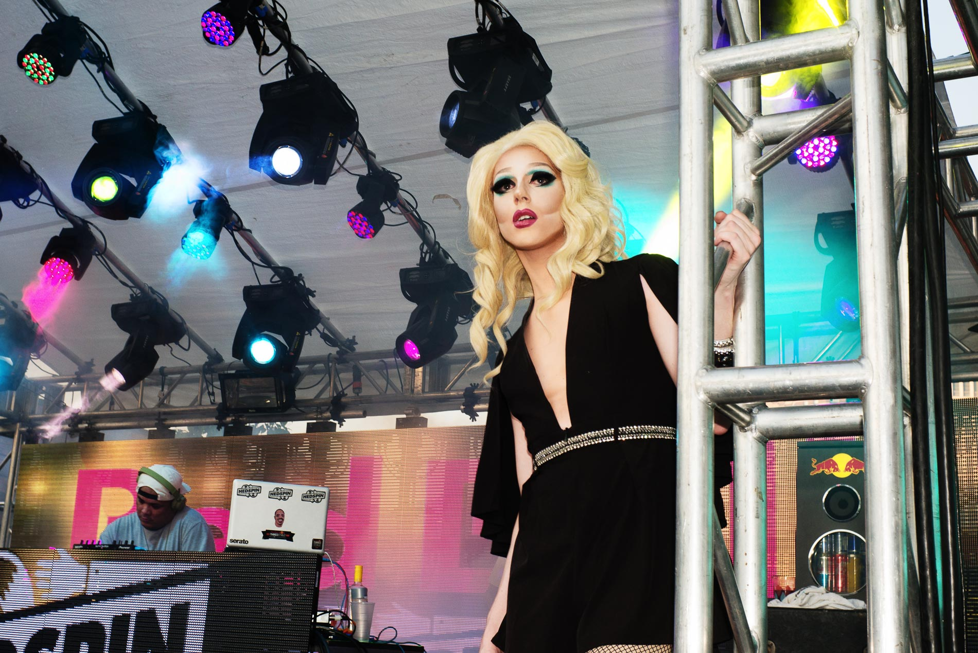 Drag performer Trixie Mattell on the Red Bull Stage.