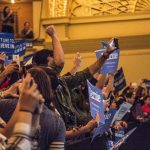 The March 14 Chicago Bernie Sanders rally drew enormous crowds that filled the blocks surrounding the Roosevelt Auditorium, thousands of supporters turned away as the rally was quickly filled to capacity.