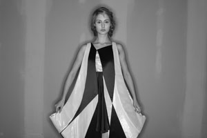 Design by Kyung-Ah Yoon,  Graduated 2009 Model from Factor Runway, image from last year's fashion show