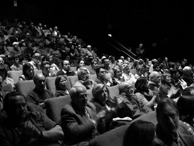 An eager audience at the European Film Festival's opening night on March 5 Photograph courtesy of the Gene Siskel Film Center.