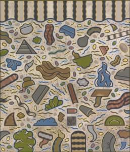 """Ray Yoshida, """"Untitled,"""" c. 1970. Courtesy of the Estate of Ray Yoshida. Image courtesy of Sullivan Galleries."""