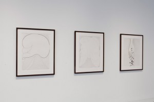 """Installation view from Chris Ofili, """"Afrotranslinear."""" Image courtesy of the Arts Club of Chicago."""