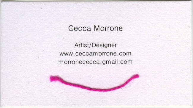 cecca morone business card