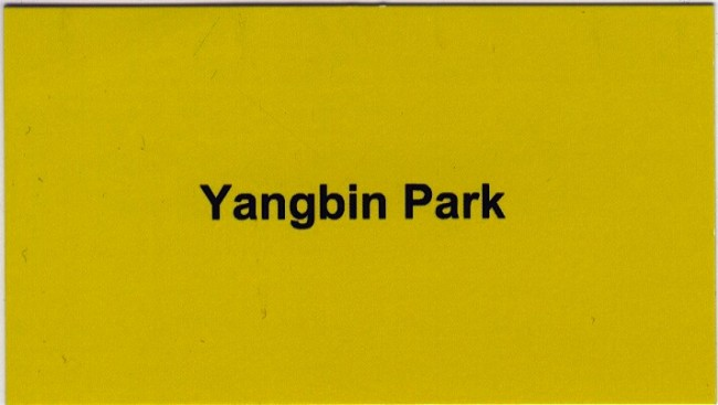yangbin park business card