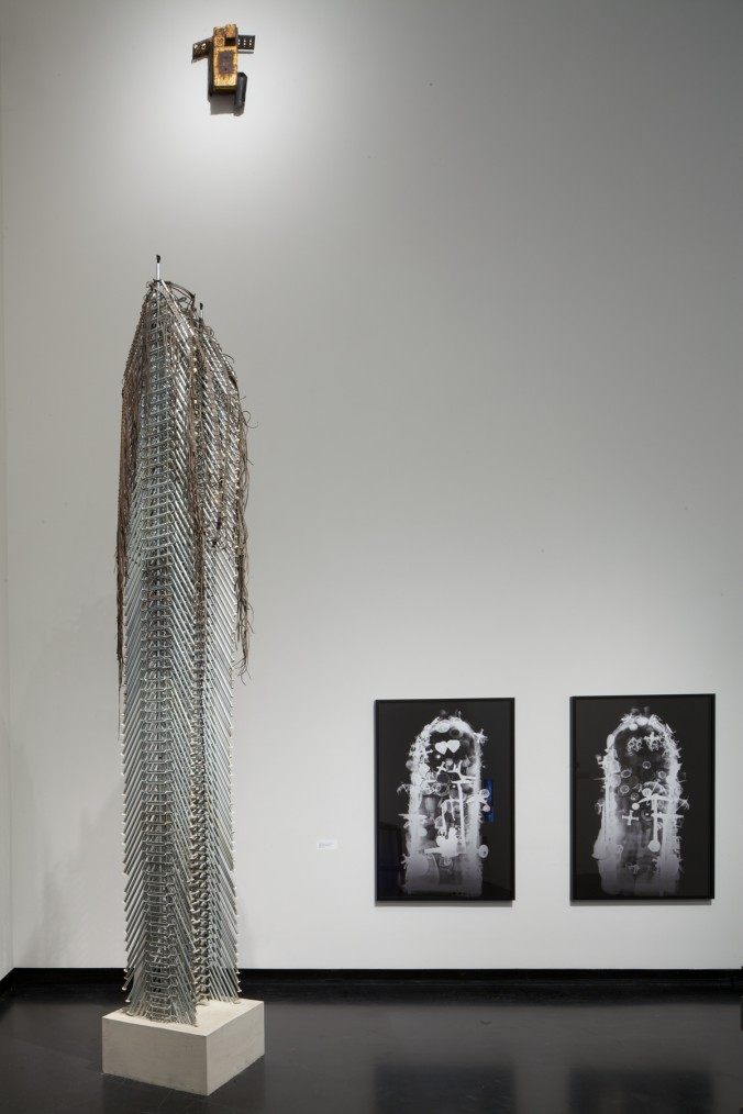 """Terry Adkins """"Recital,"""" installation view, The Frances Young Tang Teaching Museum and Art Gallery at Skidmore College, 2012."""