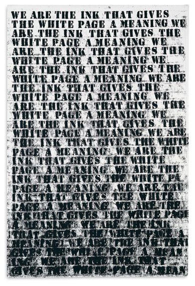 "Glenn Ligon, ""Untitled (Study #1 for Prisoner of Love),"" 1992. Collection Museum of Contemporary Art Chicago, gift of Sandra P. and Jack Guthman, 2000.11 © Glenn Ligon 1992 / Regen Projects, Los Angeles Photo © MCA Chicago"