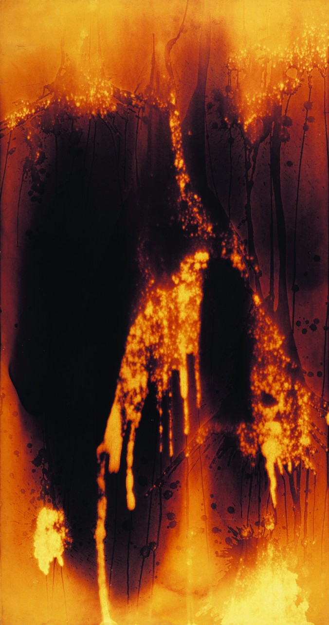 "Yves Klein, ""Untitled Fire Painting (F 27 I),"" 1961. © Yves Klein, ADAGP, Paris."