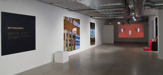 "Installation view of ""Mythologies."" Photo by Rashayla Marie Brown."