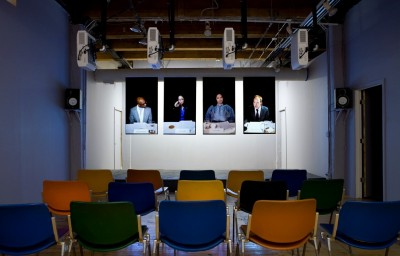 """Schizo Panel"" Installation View. Photo courtesy of threewalls"