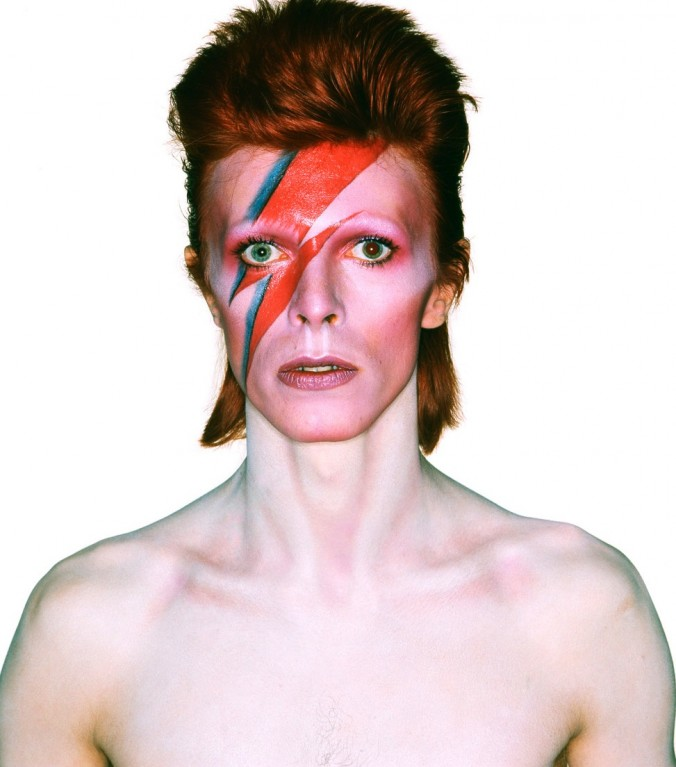 Album cover shoot for Aladdin Sane, 1973. Photograph by Brian Duffy © Duffy Archive