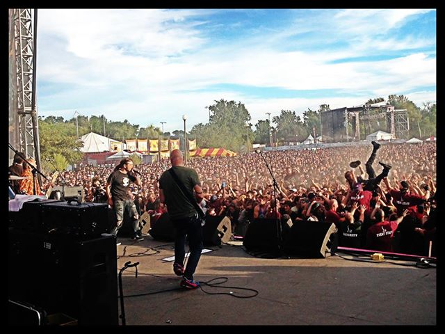 FLAG performing at RiotFest Chicago. All photographs courtesy of the RiotFest Facebook