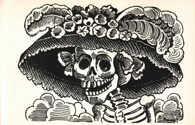 La Calavera Catrina, 1910-13, José Guadalupe Posada, Zinc Etching