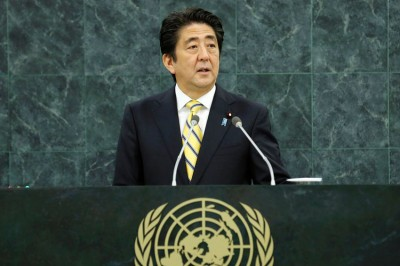 Shinzo Abe, Prime Minister of Japan. UN Photo/Evan Schneider