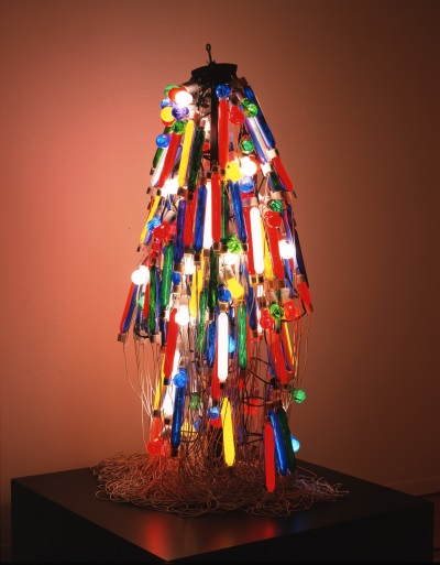 """Electric Dress,"" Tanaka Atsuko, 1956 (Refabricated 1986). Photo courtesy of the Collection of the Takamatsu City Museum of Art."