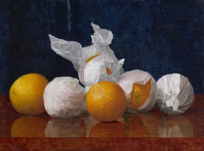 William J. McCloskey (1859-1941); Wrapped Oranges; 1889; Oil on canvas; Amon Carter Museum, Fort Worth, Texas, Acquisition in memory of Katrine Deakins, Trustee, Amon Carter Museum, 1961-1985; 1985.251