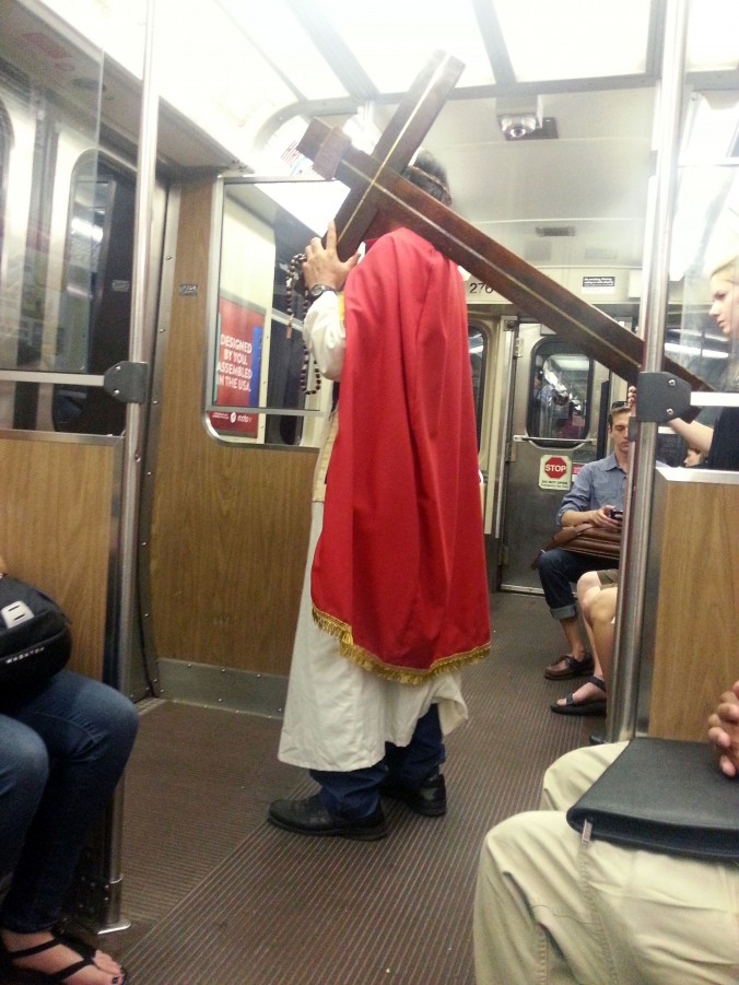 Jesus on the Blue Line