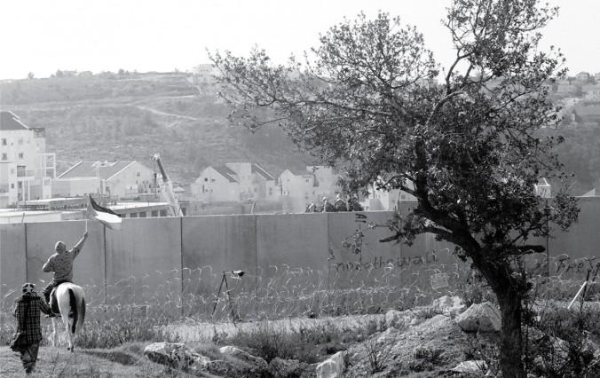 The wall outside Bi'lin, photo by Oriana Weich