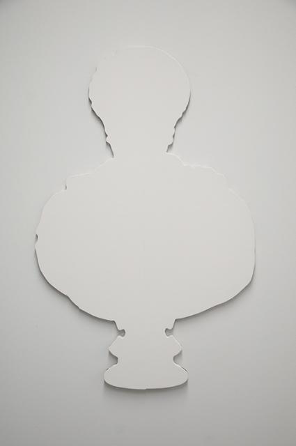 Clemens Klinkert (MFA, 2014), Essentially Blank, gesso on masonite, 26.5 x 41 inches, 2013.