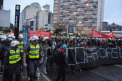 "São Paulo's 8th ""Não Vai Ter Copa"" World Cup Protest - 24 May 2014. Photo by Ben Tavener."