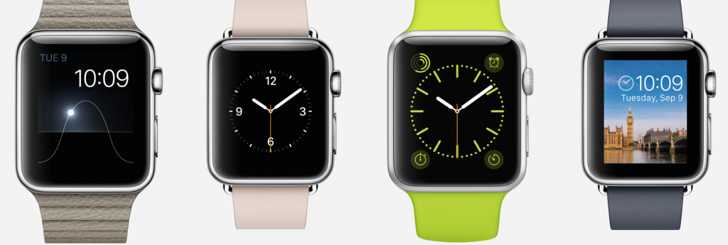 Apple Watch band styles and interfaces. Courtesy of apple.com