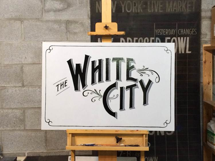 Sign painting by Stephen Monkemeier