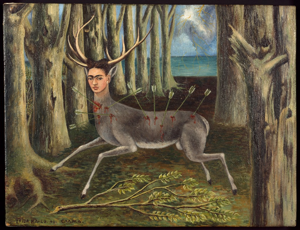 Frida Kahlo, La venadita (little deer), 1946. Private collection, Chicago. © 2013 Banco de México Diego Rivera Frida Kahlo Museums Trust, Mexico, D.F. / Artists Rights Society (ARS), New York.
