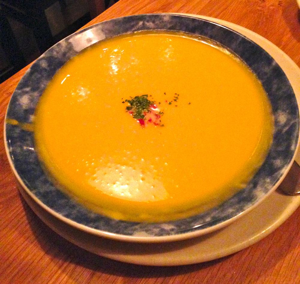 Chez Moi's pumpkin soup