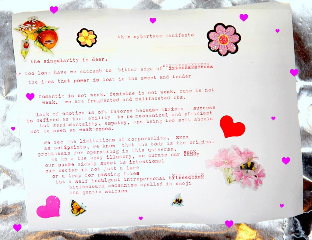 Gabriella Hileman, Violet Forest, and May Waver, the cybertwee manifesto (2014). Image courtesy of the artists.