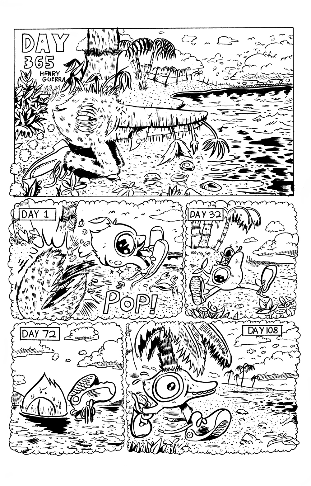 Comic by Henry Guerra, page 1