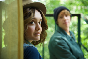 "Olivia Cooke as ""Rachel"" and Thomas Mann as ""Earl"" in ME AND THE DYING GIRL. Photo by Anne Marie Fox. © 2015 Twentieth Century Fox Film Corporation All Rights Reserved"