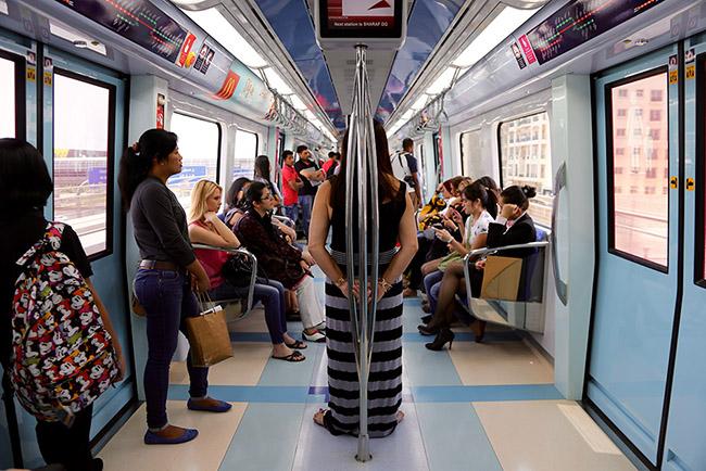 Segregated male-female Dubai Metro.