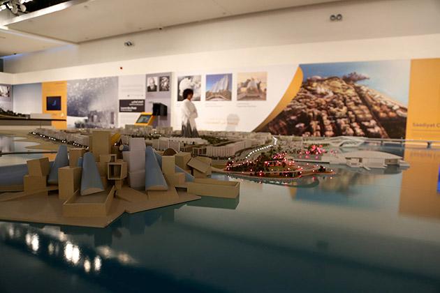 Model of Guggenheim Abu Dhabi.