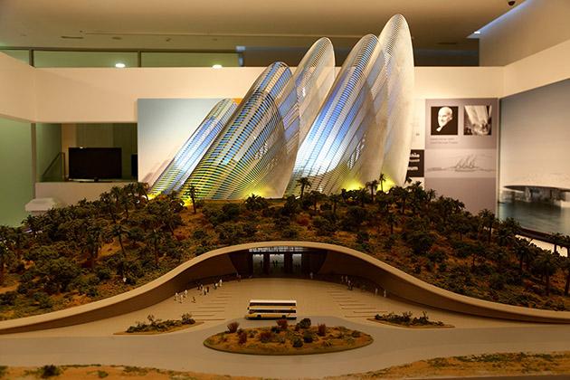 Model of Shaykh-Zayed Museum, Abu-Dhabi.