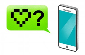 Pixel Heart, Question Mark, and Smartphone