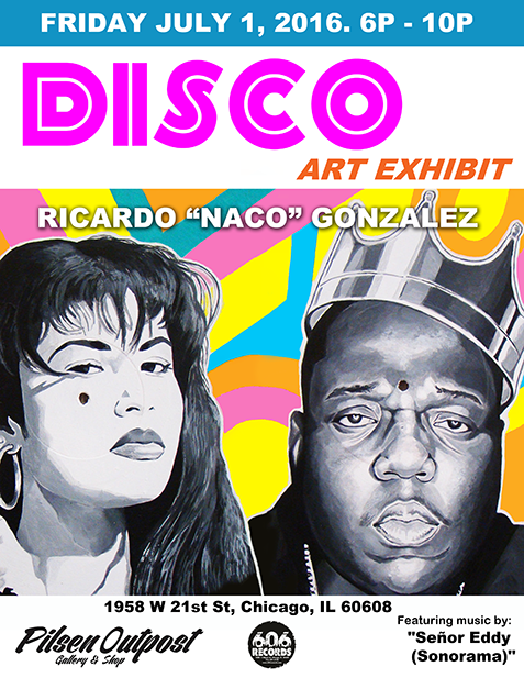 Promotional flyer for the exhibition, featuring more of Gonzalez's work.