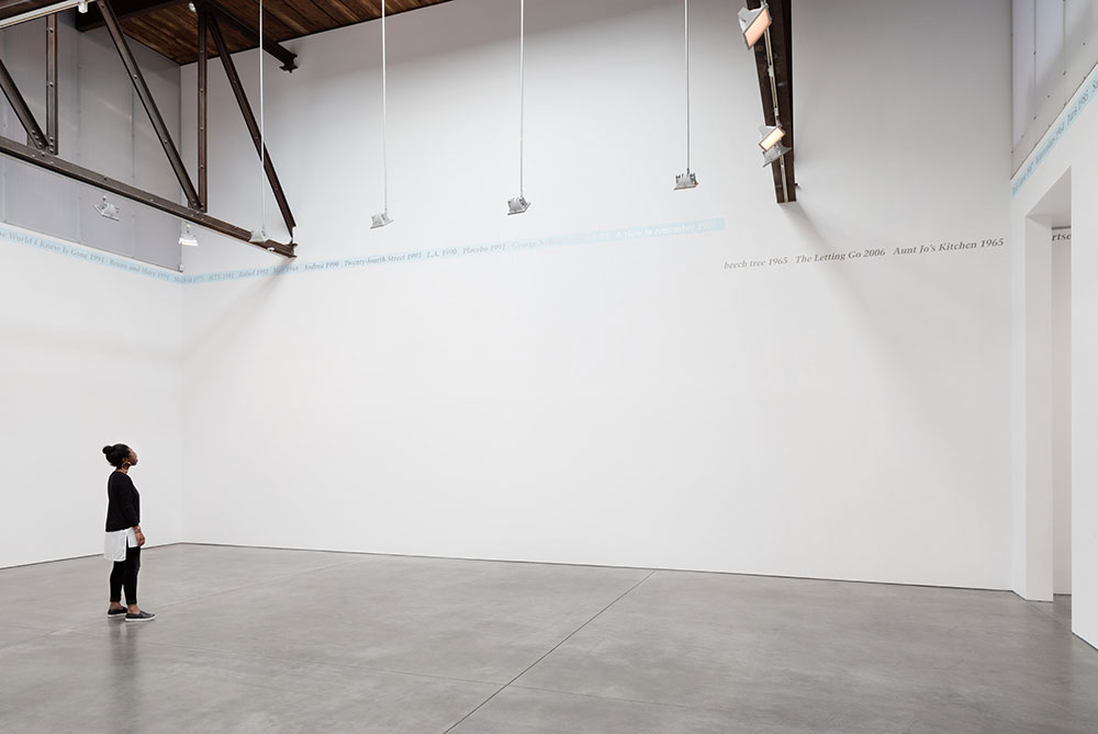 """Untitled,"" 1989 Paint on Wall Dimensions vary with installation. (c) The Felix Gonzalez-Torres Foundation Courtesy of Andrea Rosen Gallery Photography by Pierre Le Hors"