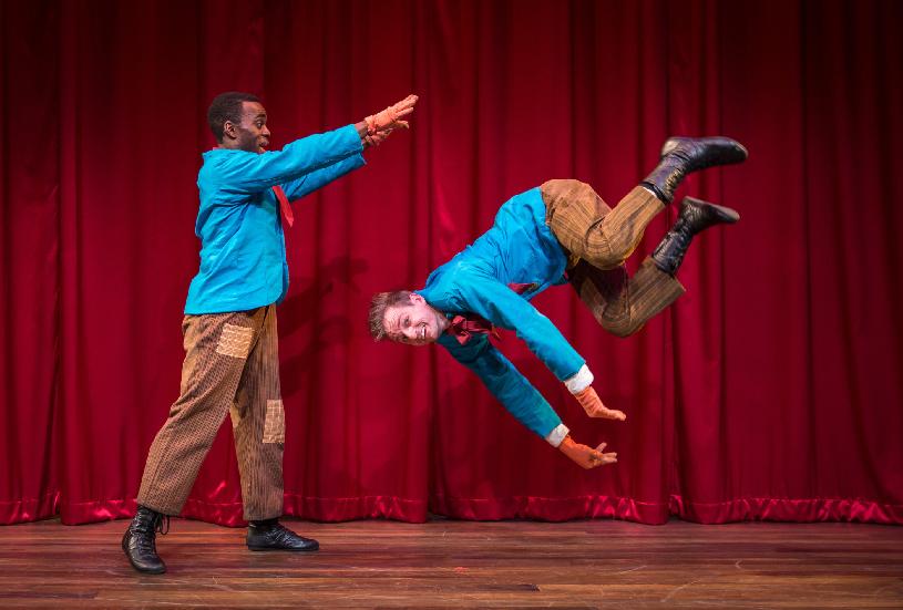 The title characters perform a vaudeville routine. Photography by Liz Lauren.