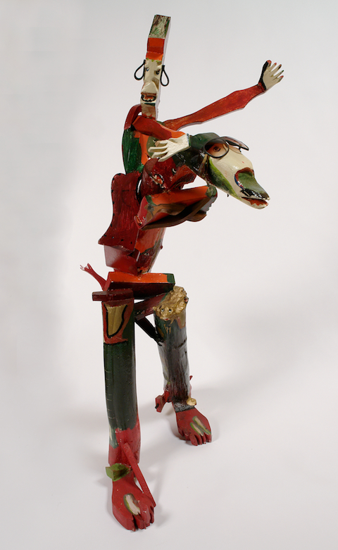 Derek Webster (American, 1934-2009). Red Ryder, 1987. Mixed media, 54 x 22 x 31in. Gift of Ruth and Bob Vogele. Photo courtesy of Intuit.