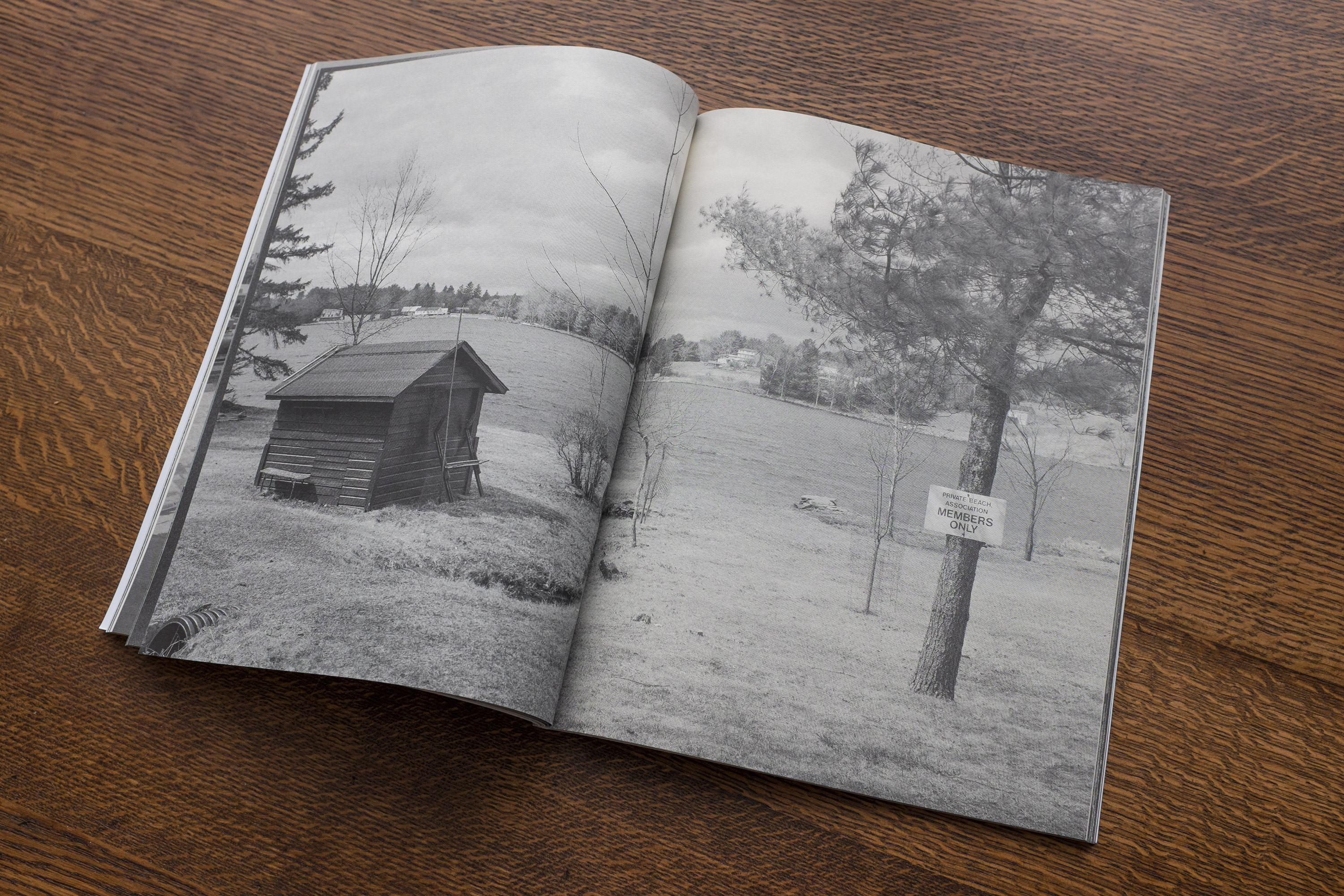 """A spread in """"TBH,"""" a zine by Pat Reynolds. Photograph courtesy of Reynolds."""