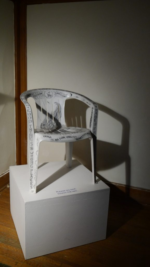 """Captain's Chair,"" by Michael Dinges, 2006. Photo courtesy of Aron Packer Projects."