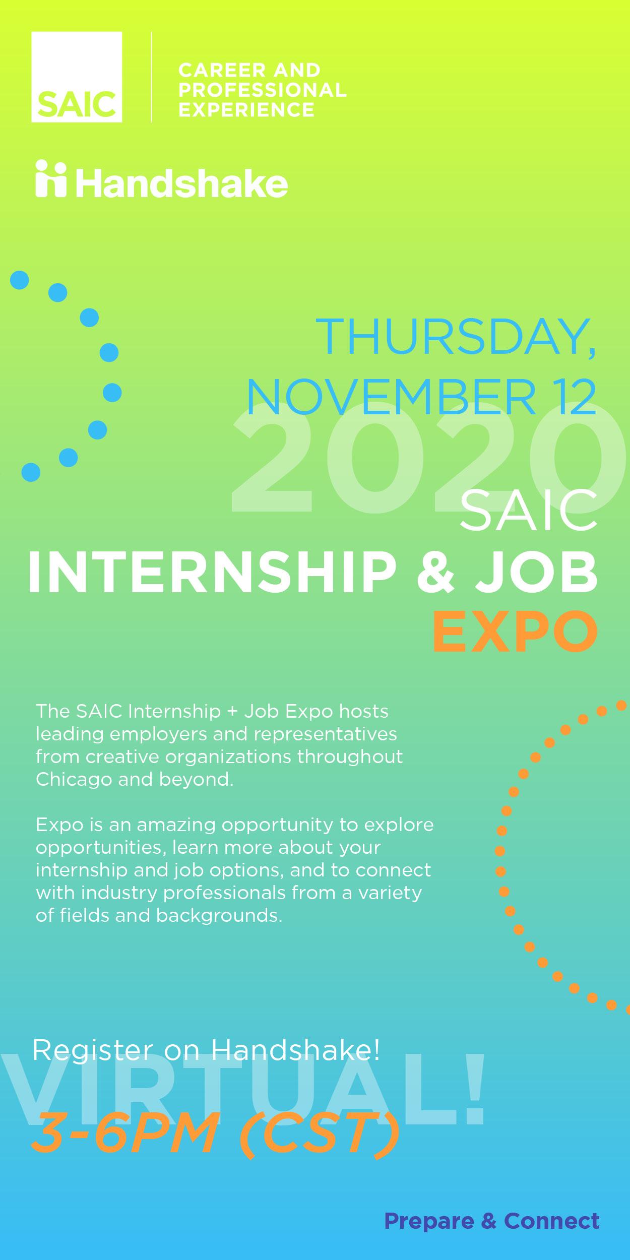 2020 School of the Art Institute of Chicago (SAIC) Virtual Internship and Job EXPO